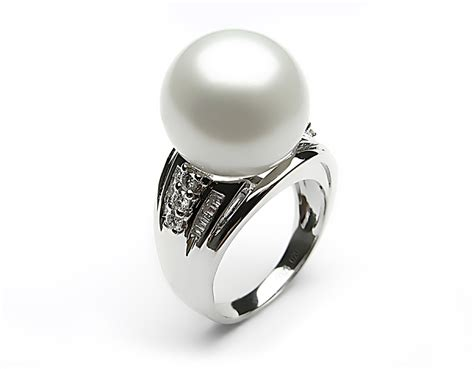 white south sea pearl ring 11 12mm aaa pearl