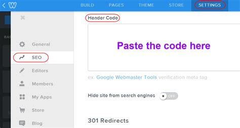 how to add codes in header and footer code sections of