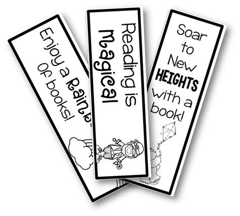 1000 Images About Bookmarks On Pinterest Monster Bookmark Printable Bookmarks And Free Personalized Bookmark Template