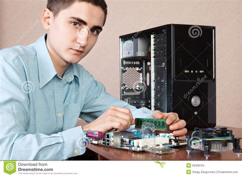 Hardware Technician by Computer Engineer Stock Images Image 29458104