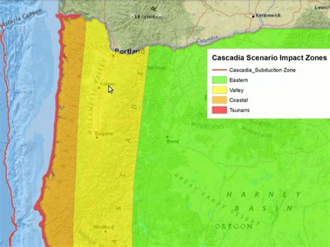map of oregon earthquake zones canada oregon releases plan to mitigate earthquake risk