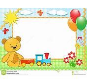 Childrens Frame Bear Handmade Royalty Free Stock Image
