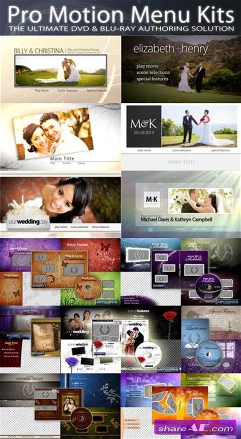 dvd menu templates after effects videohive 170 titles animations bundle 187 free after
