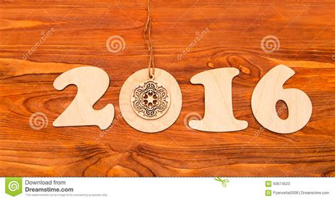 new year 2016 wood happy new year 2016 number made of wood stock photo