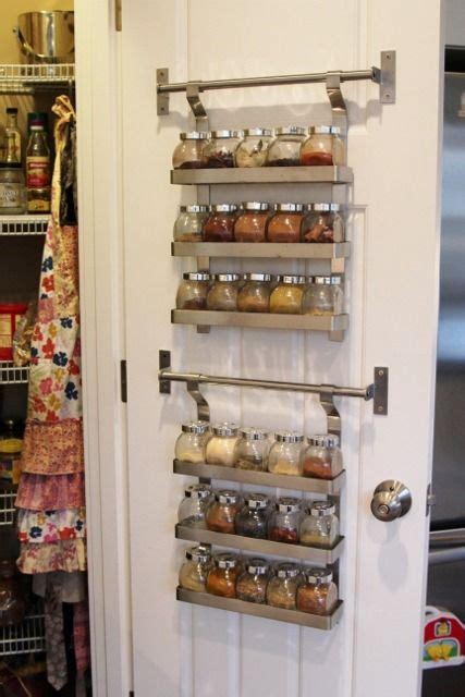 ikea hanging kitchen storage ikea spice rack and mini jars for inside of pantry closet