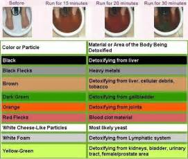 ionic foot bath color chart tamara s touch
