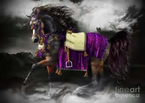 Black Duvet Cover Arabian Horse Shaitan Digital Art By Shanina Conway