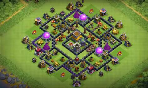 th8 base layout 8 best th8 war base trophy farming base layouts 2018