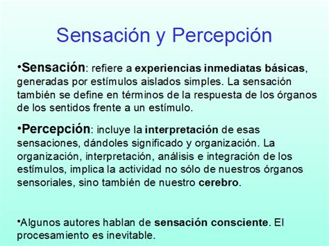 imagenes sensorial definicion y ejemplos la percepci 243 n monografias com