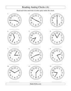 Ficha 9-b   el reloj   Aprender la hora, Matematicas 3