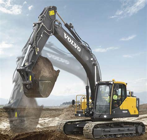 volvo ce intros ece excavator  power fuel efficiency boosts