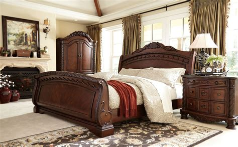 north shore bedroom set sale north shore sleigh bedroom set from ashley b553