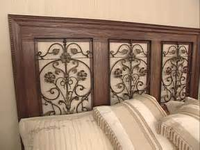 iron headboards how to build a wrought iron panel headboard hgtv
