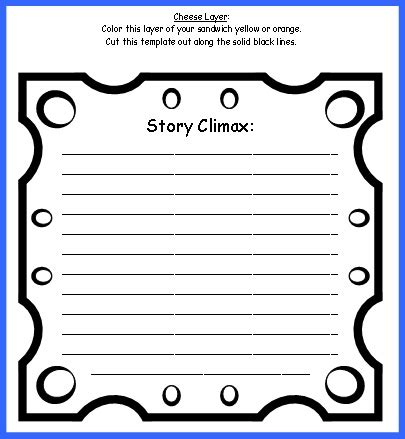 sandwich template for writing sandwich book report project templates printable