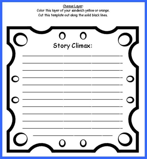 sandwich book report printable template sandwich book report project templates printable