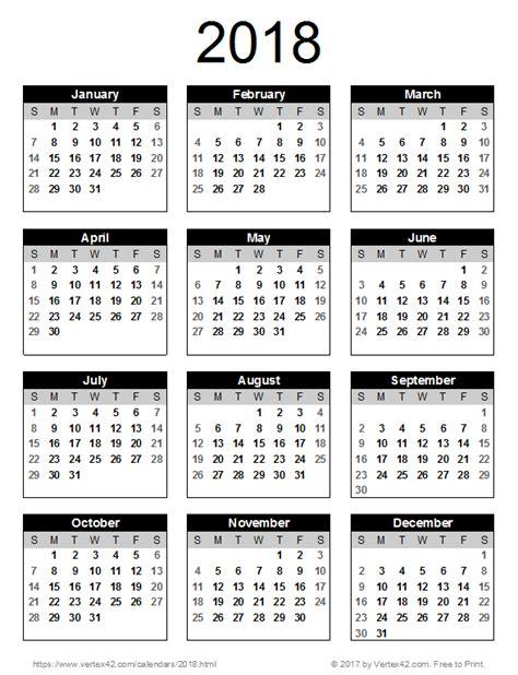 Calendar 2018 Portrait 2018 Calendar Templates And Images