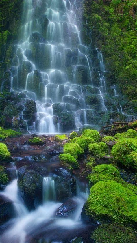 wallpaper android nature hd enchanting waterfall hd android wallpaper free download
