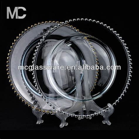 glass beaded chargers wholesale cheap wholesale wedding gold silver glass beaded charger
