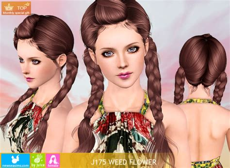 weed hairstyles double braids with wrapped bangs j175 weed flower