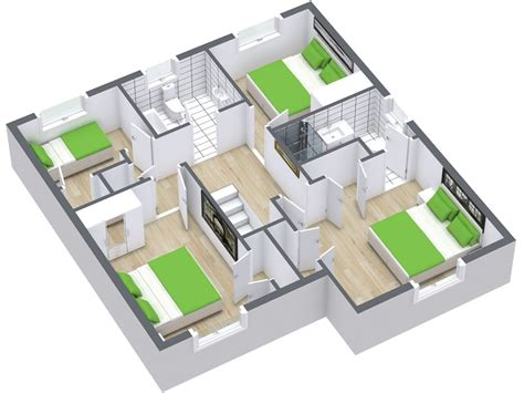 2828 house floor plan 3d 3d floor plans roomsketcher