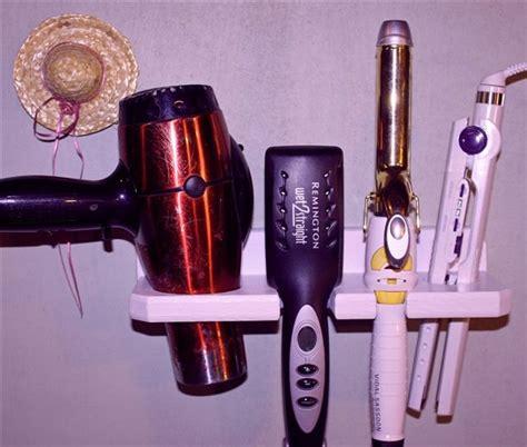 Storage For Hairdryer And Straightener bathroom organizer hair dryer straightener curling