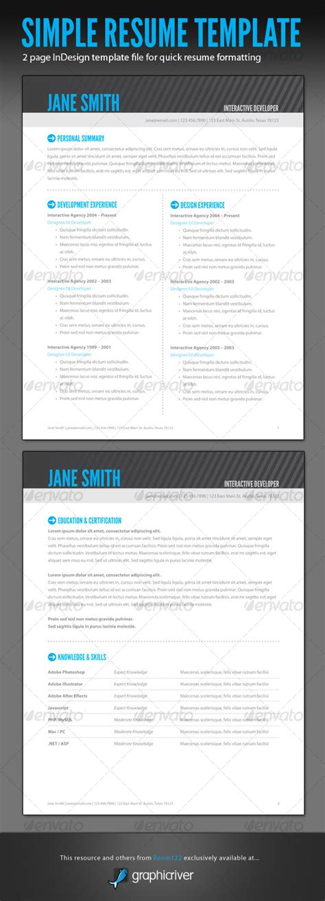 indesign resume templates images