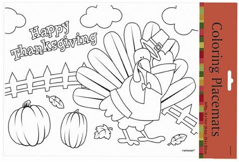 thanksgiving coloring page placemat 15 educational toys that are perfect for thanksgiving