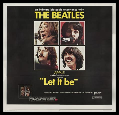 musical let it l post the beatles poster let it be pixshark com images