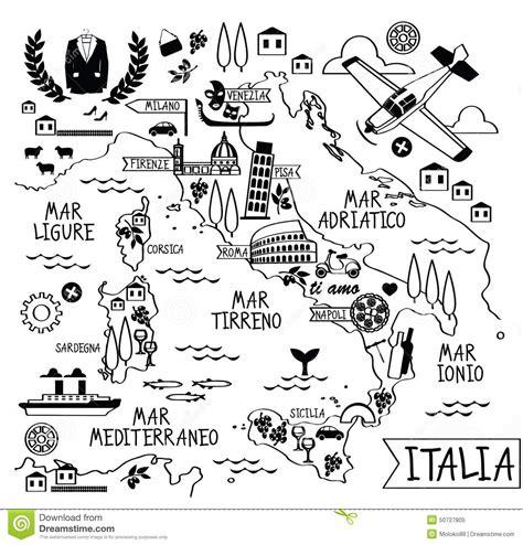 Cartoon Map Of Italy Stock Vector   Image: 50727805