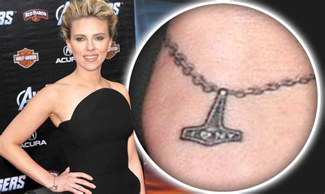 scarlett johansson tattoos i new york johansson gets a sweet