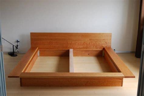 flat platform bed frame solid cherry lo modern platform bed boulder furniture arts