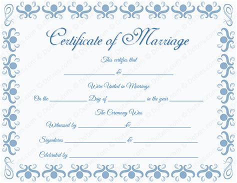Round Grill Border Marriage Certificate Template Dotxes California Marriage Certificate Template