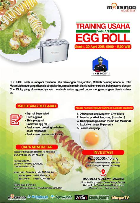 Mesin Egg Roll usaha varian egg roll 30 april 2018 toko mesin