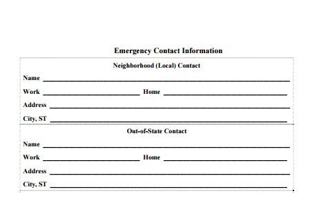 contact information template word 5 contact info templates formats exles in word excel