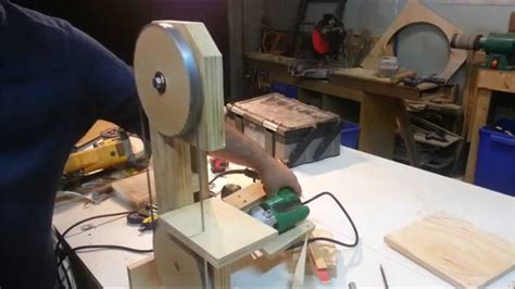 homemade bandsaw drill powered youtube