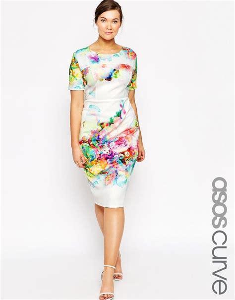 Dress Loisa Scuba plus size floral print scuba conscious dress plus