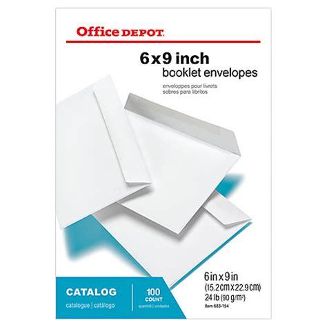 Office Depot Envelopes Office Depot Brand Booklet Envelopes 6 X 9 White Box Of