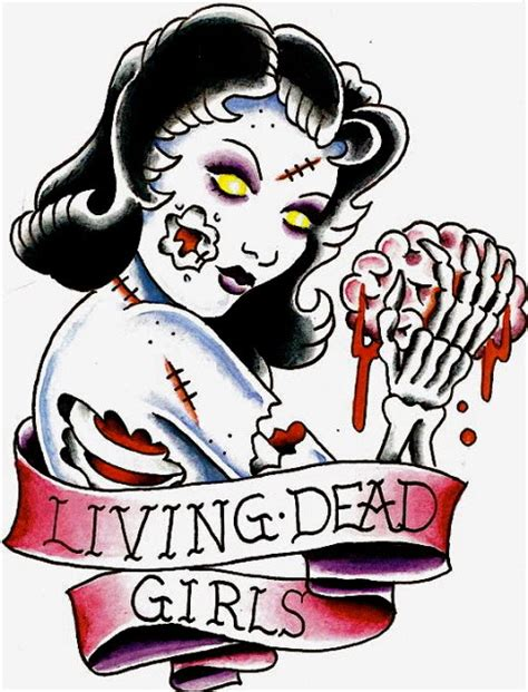 living dead tattoo designs living dead