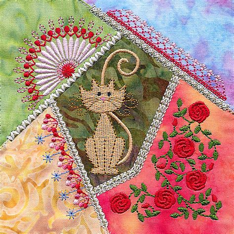 Patchwork Embroidery Stitches - gorgeous 18 patchwork embroidery designs