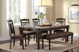 Country Style Dining Room Furniture Country Style Espresso Dining Table Chairs Bench Dining Room Furniture Set Ebay