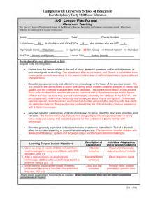 early childhood lesson plan template search results for sle lesson plan in early childhood