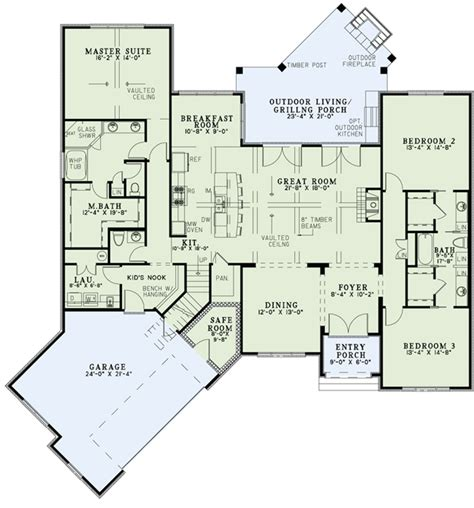plan 110 00935 3 bedroom european plan 2 408 square feet 3 bedrooms 2 5