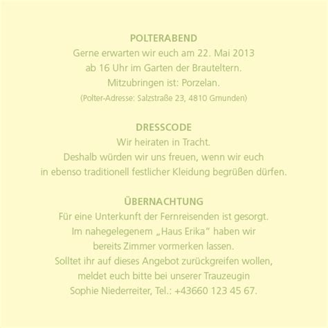 Hochzeitseinladung Einleger by Dresscode Hochzeit Einladung Designideen