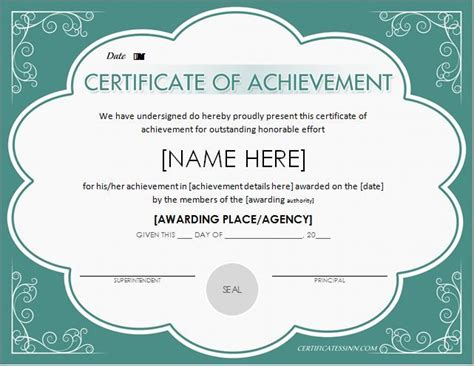 certificate of achievement word template 25 best ideas about certificate of achievement template