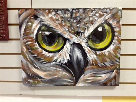 acrylic painting ideas owls acrylic owl up painting by ed bell