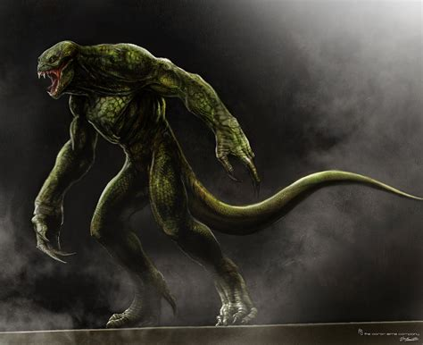 the human lizard exclusive the amazing spider concept artist jerad s