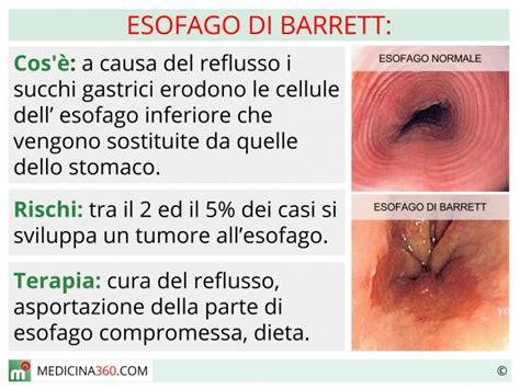 infezione guancia interna esofago di barrett cause sintomi diagnosi dieta