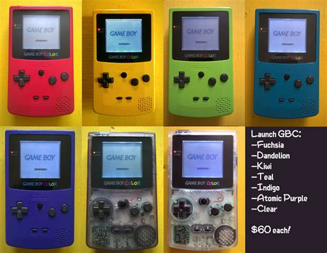 gameboy color frontlight mod without sp game boy horror color frontlight mod you design it