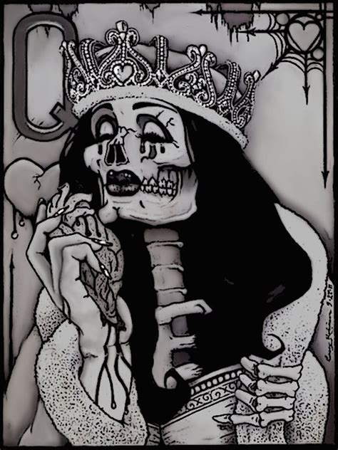 queen of hearts tattoo images designs