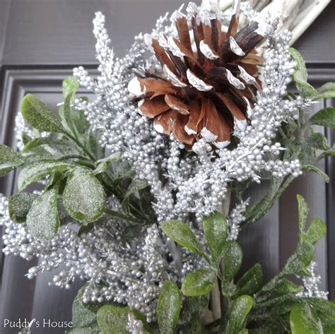 Winter Door Wreaths by Diy Winter Wreath Puddy S House